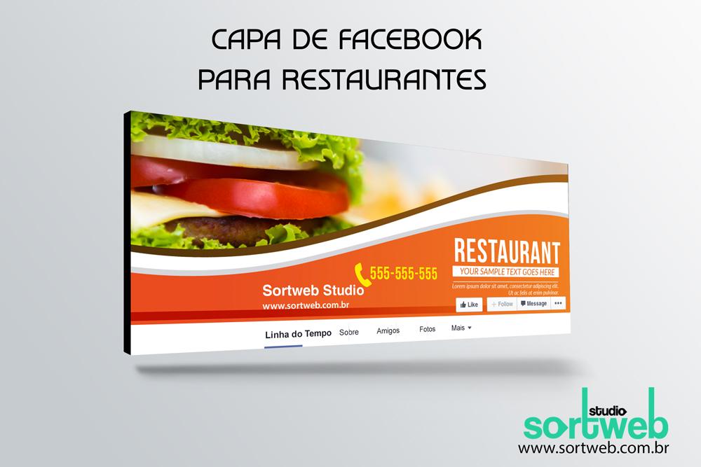 Capa de fanpage para restaurantes